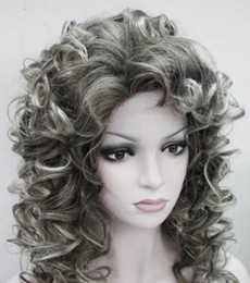girls blonde wigs NZ - WIG free shipping New Vogue Sexy Women's Short Blonde Cosplay Party Curly Wigs Fashion Girls Wig