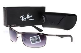 designer sunglasses dark lenses 2019 - Fashion ray Sunglasses Eyewear Sun bans Glasses Designer Brand Black Metal Frame Dark 50mm Glass Lenses For Men Women Bl