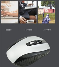 tablet sleep Canada - Hot 2.4GHz USB Optical Wireless Mouse USB Receiver mouse Smart Sleep Energy-Saving Mice for Computer Tablet PC Laptop Desktop With White Box