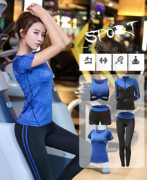 $enCountryForm.capitalKeyWord Canada - 5 pieces set Yoga Suit outfits Women Sportswear Jogging Suits Gym drying clothes Yoga Sports pants For Lady
