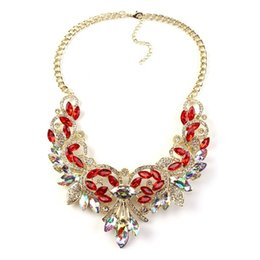 acrylic gem necklace UK - Best lady New Color Gem Crystal Brand Maxi Statement Necklaces& Pendants Vintage Turkish Wholesale zaCollar Choker Necklace 3237
