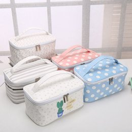 magic cosmetics NZ - Cute Portability Magic Travel Make Up Pouch Storage Bags Cosmetic Bag Makeup Bags Print Striped Case Container Organizer
