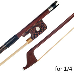 violin bow hair Australia - Double Bass Bow 1 4 French Style Brazilwood Parisian Eyes Round Stick HIgh Quality White Bass Bow Hair