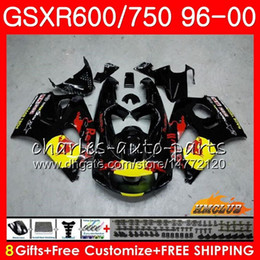 98 Srad Fairing Red Australia - Body For SUZUKI SRAD GSXR-600 GSXR750 1996 1997 1998 1999 2000 1HC26 GSX-R750 Yellow red blk GSXR 750 600 GSXR600 96 97 98 99 00 Fairing kit