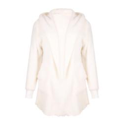 520e4db1b0 Faux Fur Hoodies Women UK - Women Winter Faux Fur Warm Coat Casual Hoodies  Soft Plush