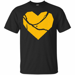 strong tees Australia - Pittsburgh Strong Broken Heart Short Sleeve Black T-Shirt Size S-5Xl For Youth Middle-Age The Elder Tee Shirt