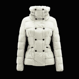 Double Thick Hat Australia - Winter coat women Double button Wind warm down jacket Thick duck down High collar fold slim white jackets Plus size