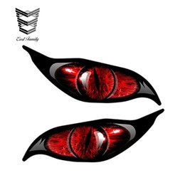 China wholesale 20pcs lot 2pcs Red Evil Eye Monster Zombie Vinyl Graphic Car Sticker Each Eye RC Plane DIY Car Body Decals 13cm x 5cm cheap zombie stickers decals suppliers