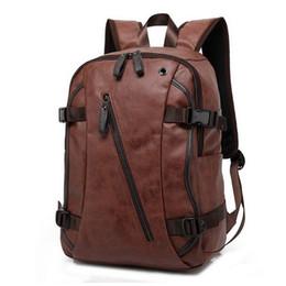 Backpacks For College Men Australia - Vintage Pu Leather Backpacks For Men College Bags School Travel Backpack Daypacks Mochila Shoulder Bag Man Backpacks Laptop