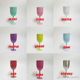 $enCountryForm.capitalKeyWord Australia - 2018 IN STOCK 9 Colors 10oz wine glasses Stainless Steel Wine Glass Double Walled With Lid Metal Goblet