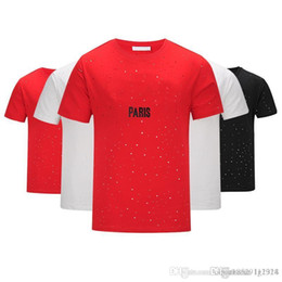 9bb3ab909c80 Brand design SS18 Summer Street wear Europe Paris Fan Made Fashion Men High  Quality Broken Hole Cotton Tshirt Casual Women Tee giv T-shirt