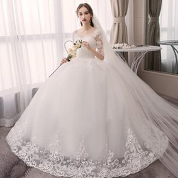 $enCountryForm.capitalKeyWord UK - Vintage Ball Gown Embroidery Arab Wedding Dress 2019 long Sleeve Plus Size Appliques Tulle Wedding Gowns Bride Dress hot selling