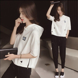 Wholesale juniors clothes online – design 19 new sport kit Autumn casual sportswear suit female Korean loose big yards Sleeve junior high school student fashion jogging clothing