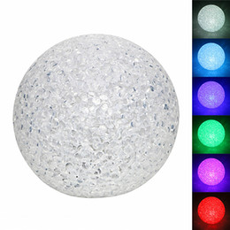 Discount diy crystal lamp - Creative and cute night lights Colorful crystal ball night lamp with EVA material nightlamp small Desk Table light