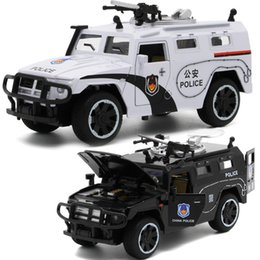 Military Alloy Model Australia - 1 32 Scale Military Armoured Police Car Diecast Alloy Model with Sound & Light