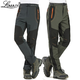 $enCountryForm.capitalKeyWord NZ - Lomaiyi 5xl Men's Warm Winter Men Fleece Lining Cargo Mens Waterproof Trousers Male Stretch Casual Work Pants Am110 Q190518