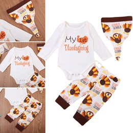 2afd9503f500 thanksgiving baby girl outfits 2019 - 3Pcs Newborn Baby Thanksgiving Set  Baby Boy Girl Long Sleeve
