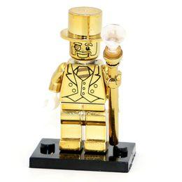 $enCountryForm.capitalKeyWord Australia - Mr Gold Limited Edition Chrom Golden Man Dolls Building Blocks Sets Models Bricks Toys for Children AIJILE