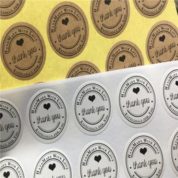 $enCountryForm.capitalKeyWord Australia - Handmade For You Circle Sticker Label Retro Style For Envelop Gift Packaging Sealing Self-adhesive Stickers Thank You 500Pcs Lot
