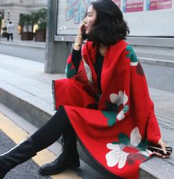 $enCountryForm.capitalKeyWord Australia - 2019 new autumn and winter models imitation cashmere scarf sun flower big flowers two sides large shawl long section