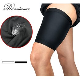 dcc816a7646875 2 pieces Thigh Guard Protector Pads Leg Support Compression Bandage  Adjustable Sleeve Muscle Strain Pain Relief Sport Legwarmers