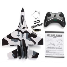 rc airplane radio remote control Australia - RC Plane Toy EPP Craft Foam Electric Outdoor RTF Radio Remote Control SU-35 Tail Pusher Quadcopter Glider Airplane Model for Boy Y200317