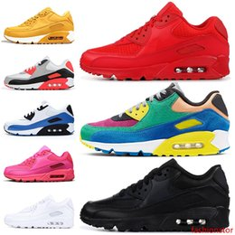 watermelon cushions Canada - New Fashion Cushions 90 90s Running Shoes for men women Essential Red Triple Black Viotech BE Ture Infrared OG tennis trainers sneakers