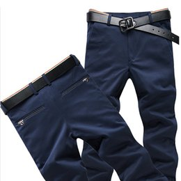 Mens skinny black dress pants online shopping - 2018 In the fall Men s Elastic Casual Pants Mens Business Dress Slim Fit Jogger Stretch Long Trousers