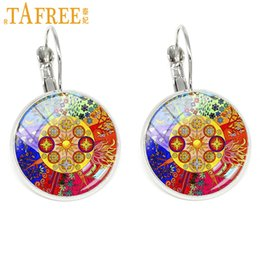 $enCountryForm.capitalKeyWord Australia - TAFREE Sacred Geometry Clip on Earrings colorful ear cuff Spiritual Mandala Yoga Om Symbol Jewelry for teachers CT396