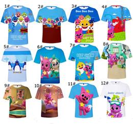 Top Kids Christmas Gifts Australia - Baby Shark T-shirts For Kids Adults Men Women 26 styles Baby Shark T shirt Kids 110-160 Cartoon Baby Shark Clothing Tops Gifts XXS-4XL A419