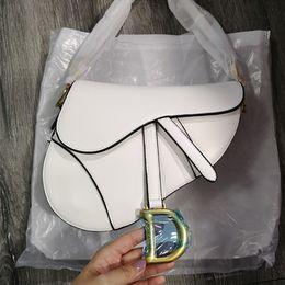 Großhandel Weiß Satteltasche Fashion Trend Bag Handtasche Satteltasche Leder weißen Qualitäts-Sattel gibt Schiff frei