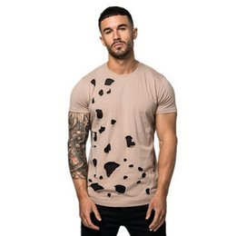 Hot Broken UK - Gym Men's Outdoor Fitness T-shirt New Fashion, Leisure, Cool and Comfortable Short Sleeves with Broken Flowers hot selling T-shirt