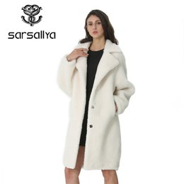 ladies cashmere jackets Australia - Winter Women Wool Coat Cashmere Female Long Coat Blends Woolen Elegant Autumn Jacket For Ladies Thick Warm Fur Clothes Girl 2019 SH190922
