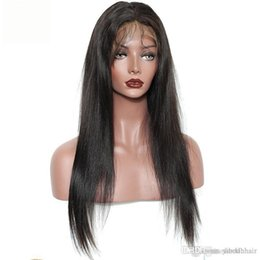 $enCountryForm.capitalKeyWord Australia - 100% Brazilian Virgin Hair Full Fringe Wig Human Hair Glueless Lace Front Wigs With Bangs Straight Full Lace Human Hair Wigs