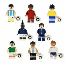 Player Block Australia - 8pcs set Cartoon Player Team Cute Building Blocks Bricks Figures Models Toys Children Educational Gift Toys