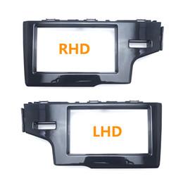 Honda Dash Australia - Car 2Din Stereo Radio Dash Panel Fascia Frame For HONDA Fit Jazz (RHD LHD) 2013+ DVD CD Frame Installation Trim Kit #4944 4945