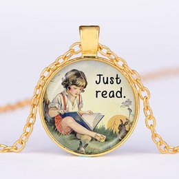 Vintage Girl Glasses Australia - Foreign trade new products hot girl pattern pendant necklace vintage alloy glass necklace sweater chain wholesale