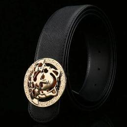 $enCountryForm.capitalKeyWord Australia - Hot selling new Mens womens black belt Genuine leather Business belts Pure color belt snake pattern buckle belt for gift 0388