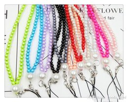 $enCountryForm.capitalKeyWord Australia - Cell Phone Straps Pearl mobile phone hang neck wholesale diy jewelry mobile phone chain factory for glass multicolored pearl neck rope