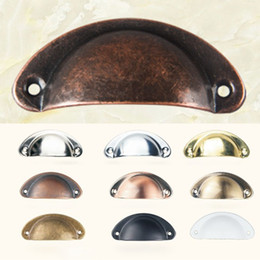 $enCountryForm.capitalKeyWord Australia - Vintage Cabinet Knobs and Handles Cupboard Door Cabinet Drawer Furniture Antique Shell Home Handles Pulls XD19925