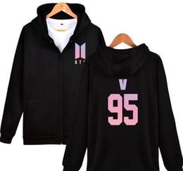 Bts alBums online shopping - Kpop BTS Bangtan Boys Hoodies and Sweatshirts Women Men bts love yourself album Hooded Zipper Jacket Coat Female Male Tracksuits