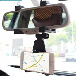 Mirror Mount Phone Holder Australia - Universal Car Phone Holder 360 Degrees GPS Smartphone Stand Car Rearview Mirror Mount Phone Holder For iPhone Samsung