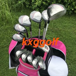 $enCountryForm.capitalKeyWord NZ - New woman full set golf driver fairway woods hybrids irons putter with Graphite Shaft Complete Set 12pcs golf club add bag golf clubs