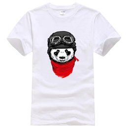 panda t shirt men 2019 - New hot 2019 men's T-shirts fashion short sleeve cute panda printed t-shirt Harajuku funny tee shirts Hipster O-nec
