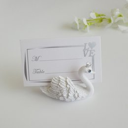 $enCountryForm.capitalKeyWord UK - Resin Swan Place Card Holders Photo Memo Number Name Card Clip Romantic Wedding Table Decorations WB419