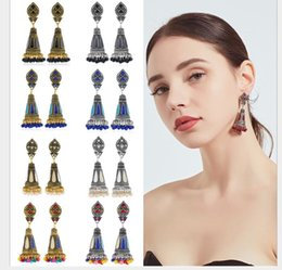 $enCountryForm.capitalKeyWord Australia - Dropping oil wish bell Pendant Earrings national wind Earrings