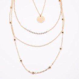 $enCountryForm.capitalKeyWord NZ - 2019 Multilayer Tassels Pendant Necklace Trendy Women Jewelry Choker Gift for Women Chain Boho Layering Chokers Girl Cheap Wholesale