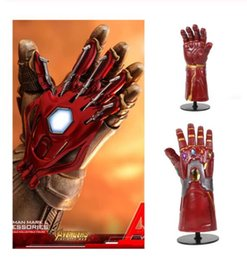 $enCountryForm.capitalKeyWord Australia - New Marvel Avengers Endgame Superhero Iron Man Cosplay Arm Gem Infinity Gauntlet Thanos Gloves Kids Adult Cosplay Prop Glove Toy