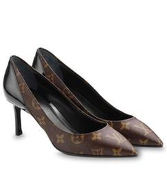 17c8f1adda1 1a3nt7 Cherie Pump 6.5 Cm Fashion New Brown Black Women High Heels Lolita  Pumps Shoes Sneakers Dress Shoes