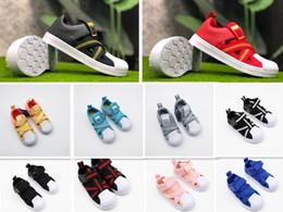 $enCountryForm.capitalKeyWord Australia - Wholesale 2019 Kids Superstar 360 Athletic Children's sports shoes boys breathable mesh shoes girls hollow sandals Baby birthday gift 26-35